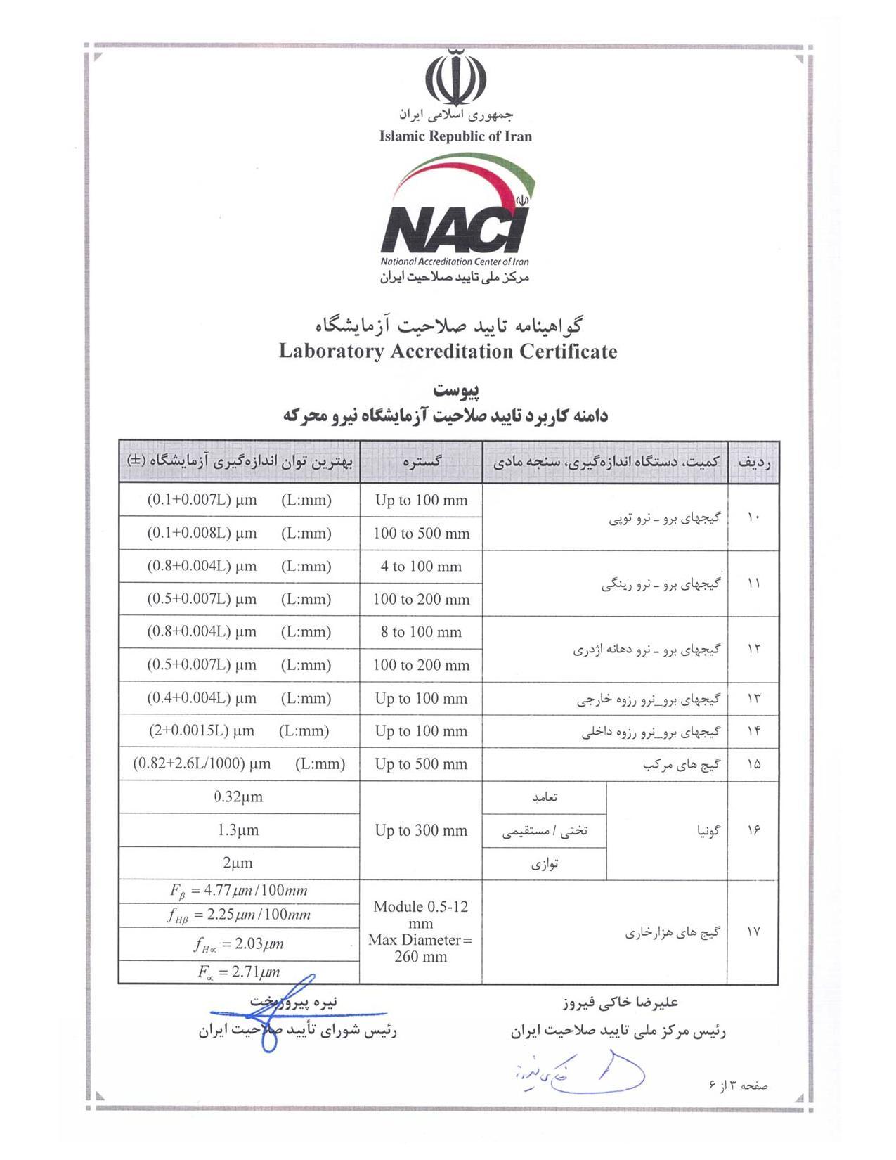 گواهینامه تایید صلاحیت آزمایشگاه(2)